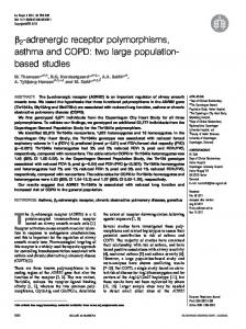 b 2 -adrenergic receptor polymorphisms, asthma and COPD: two large populationbased