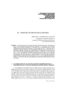 B) DERECHO INTERNACIONAL PRIVADO