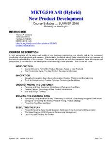B (Hybrid) New Product Development