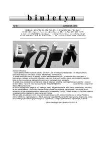b i u l e t y Nr 01 Wrzesień 2012