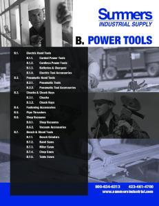 B. POWER TOOLS