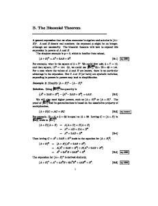 B. The Binomial Theorem