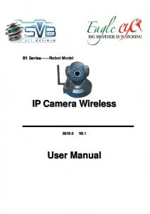 B1 Series Robot Model IP Camera Wireless V0.1 User Manual