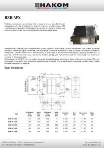 B3B-WX. Dane techniczne