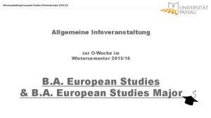 B.A. European Studies & B.A. European Studies Major