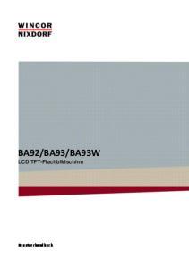 BA93W LCD TFT-Flachbildschirm