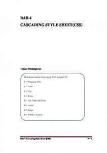 BAB 4 CASCADING STYLE SHEET(CSS)