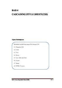 BAB 4 CASCADING STYLE SHEET(CSS)
