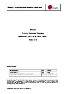 Babelstar (MODBUS SDI-12 & MODBUS HSIO) Model 6543