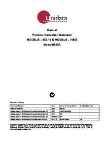Babelstar MODBUS SDI-12 & MODBUS HSIO Model 6543A