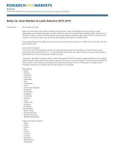 Baby Car Seat Market in Latin America