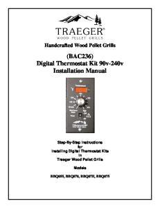 (BAC236) Digital Thermostat Kit 90v-240v Installation Manual