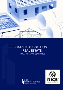 BACHELOR OF ARTS REAL ESTATE (INKL. DISTANCE LEARNING)