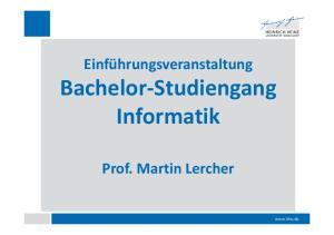Bachelor Studiengang Informatik