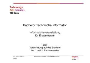 Bachelor Technische Informatik:
