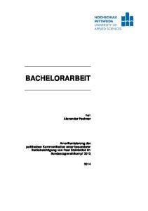 BACHELORARBEIT. Herr Alexander Fechner