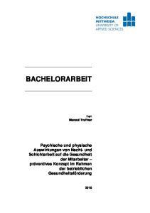 BACHELORARBEIT. Herr Manuel Treffner