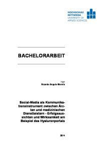 BACHELORARBEIT. Social-Media als Kommunikationsinstrument