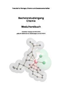 Bachelorstudiengang Chemie. Modulhandbuch