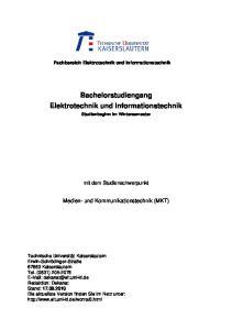 Bachelorstudiengang Elektrotechnik und Informationstechnik