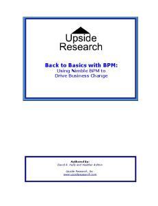 Back to Basics with BPM: Using Nimble BPM to Drive Business Change