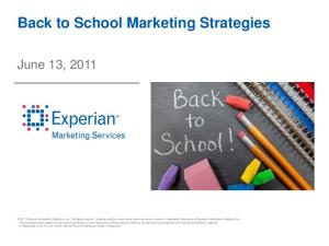 Back to School Marketing Strategies