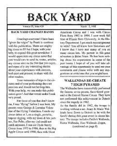 BACK YARD CHANGES HANDS