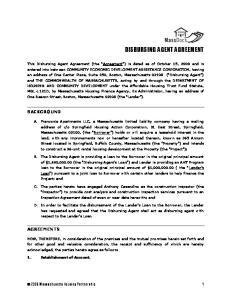 BACKGROUND AGREEMENTS Massachusetts Housing Partnership 1