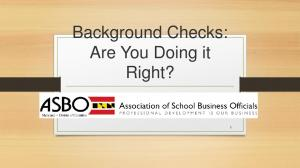 Background Checks: Are You Doing it Right?
