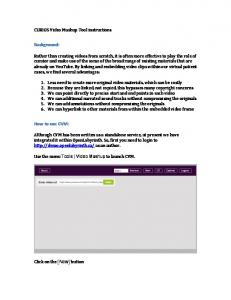 Background: How to use CVM: CURIOS Video Mashup Tool instructions
