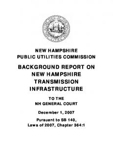 BACKGROUND REPORT ON NEW HAMPSHIRE TRANSMISSION INFRASTRUCTURE