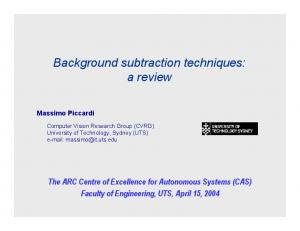 Background subtraction techniques: a review