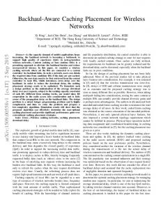 Backhaul-Aware Caching Placement for Wireless Networks