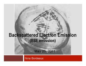 Backscattered Electron Emission (BSE emission)