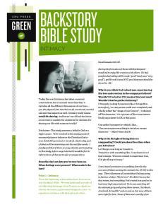 BACKSTORY BIBLE STUDY