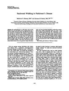 Backward Walking in Parkinson s Disease