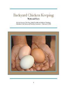 Backyard Chicken Keeping