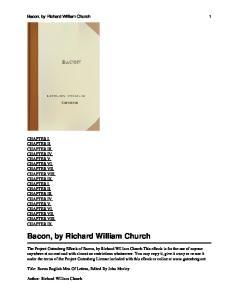 Bacon, by Richard William Church