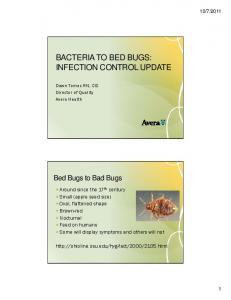 BACTERIA TO BED BUGS: INFECTION CONTROL UPDATE