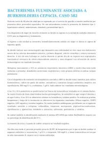 BACTERIEMIA FULMINANTE ASOCIADA A BURKHOLDERIA CEPACIA. CASO 582