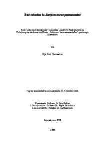 Bacteriocine in Streptococcus pneumoniae