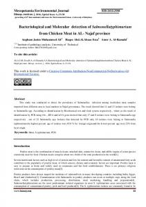 Bacteriological and Molecular detection of Salmonellatyphimurium from Chicken Meat in AL- Najaf province