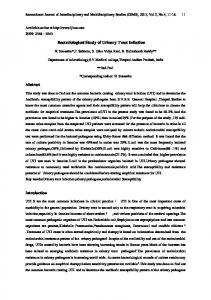 Bacteriological Study of Urinary Tract Infection