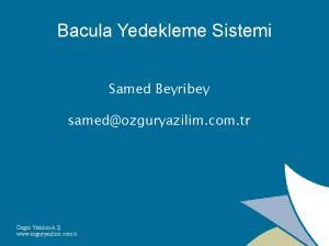 Bacula Yedekleme Sistemi