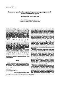 Badania nad ograniczeniem populacji w glebie ważnego patogena cebuli bakterii Burkholderia cepacia