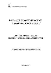 BADANIE DIAGNOSTYCZNE