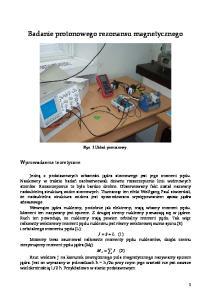 Badanie protonowego rezonansu magnetycznego