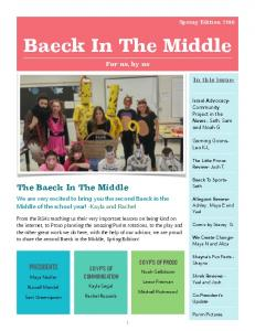 Baeck In The Middle. For us, by us. Baeck To SportsSeth The Baeck In The Middle