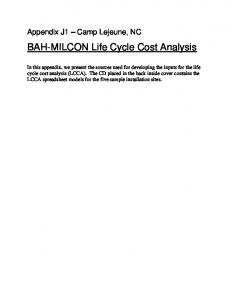 BAH-MILCON Life Cycle Cost Analysis