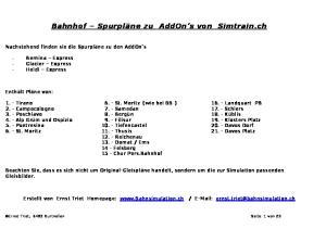 Bahnhof Spurpläne zu AddOn s von Simtrain.ch